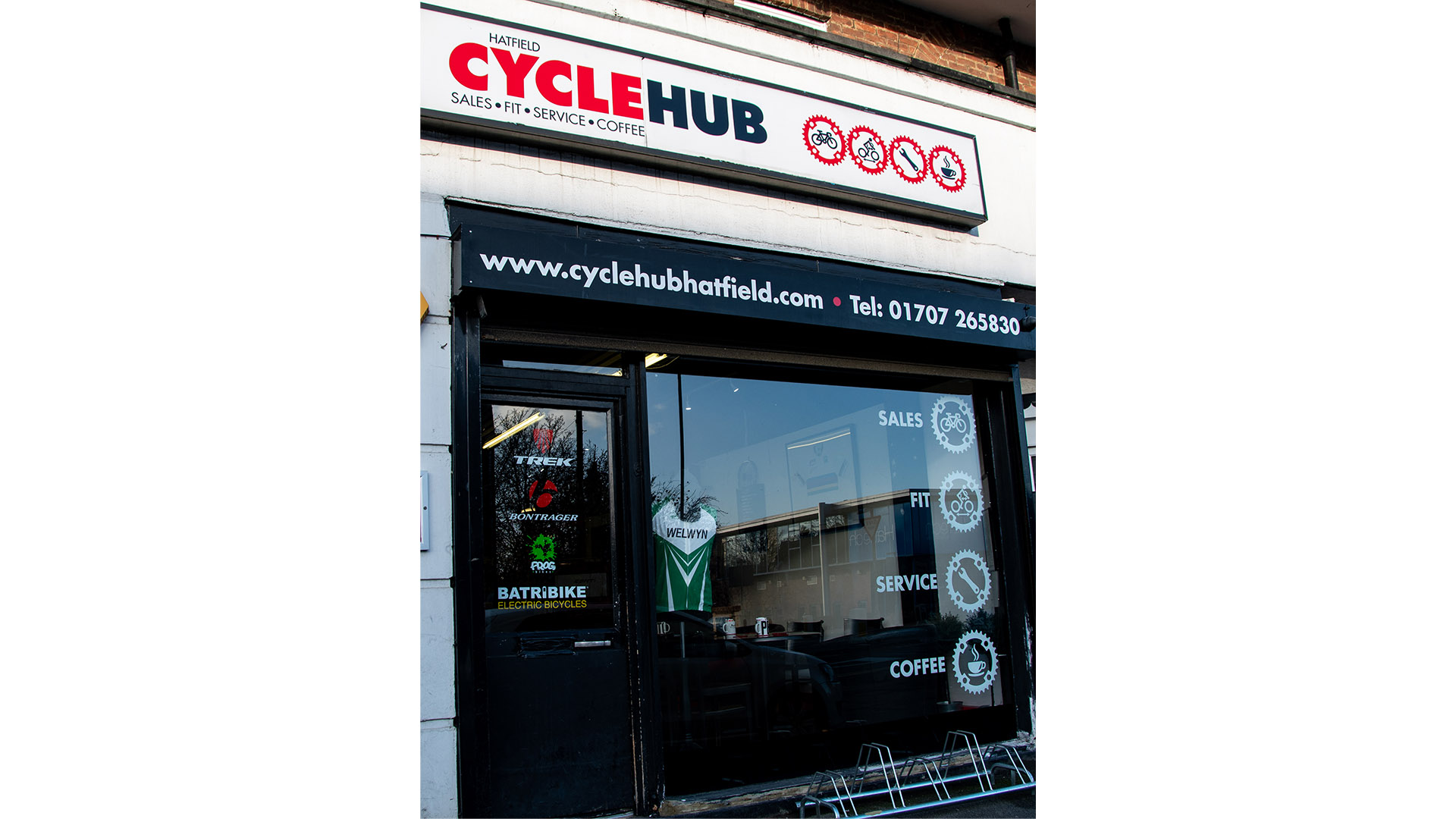 Hatfield Cycle Hub shopfront